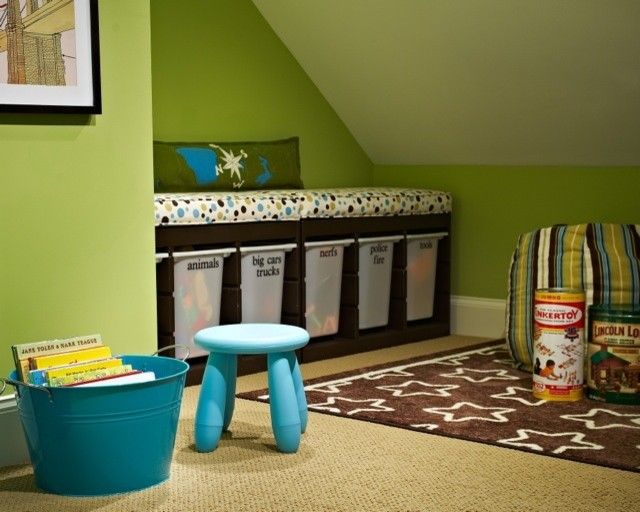 Trofast Ikea for a Modern Kids with a Modern and Traci Zeller Designs: Playroom by Traci Zeller Designs