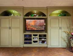valpo.edu for a Traditional Basement with a Tv Area with Built in Cabinets and Basement Remodel - Mechanicsburg by Custer Design Group
