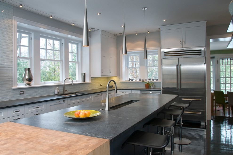 Vienna Waits for You for a Contemporary Kitchen with a White Cabinets and Interior Paint Projects by Nolan Painting Inc.