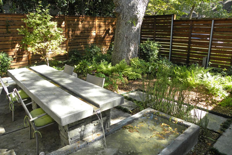 Water Gardens Pleasant Grove for a Modern Patio with a Fountain and Dallas, Tx: Scott & Melissa by Sarah Greenman