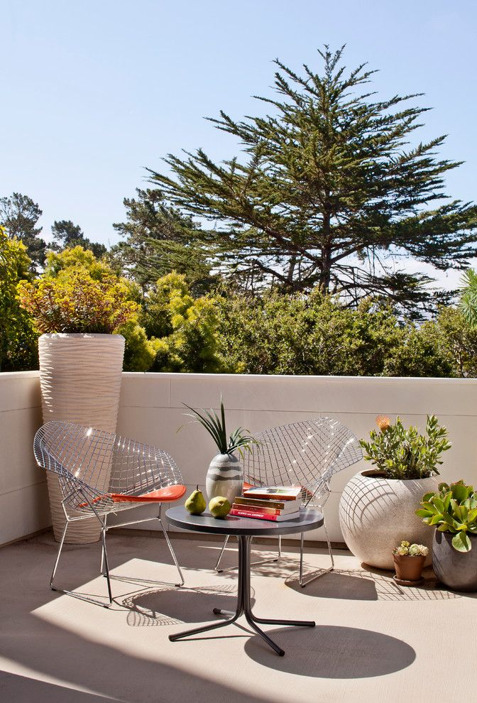 Westcoat for a Midcentury Patio with a Potted Plants and Carmel Mid Century Leed by Studio Schicketanz