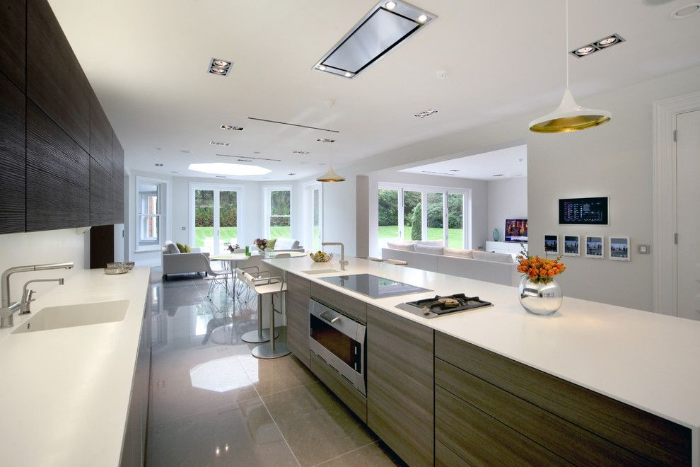 Westin Homes for a Contemporary Kitchen with a Houseplants and Surrey Mansion by Sam Coles Lighting