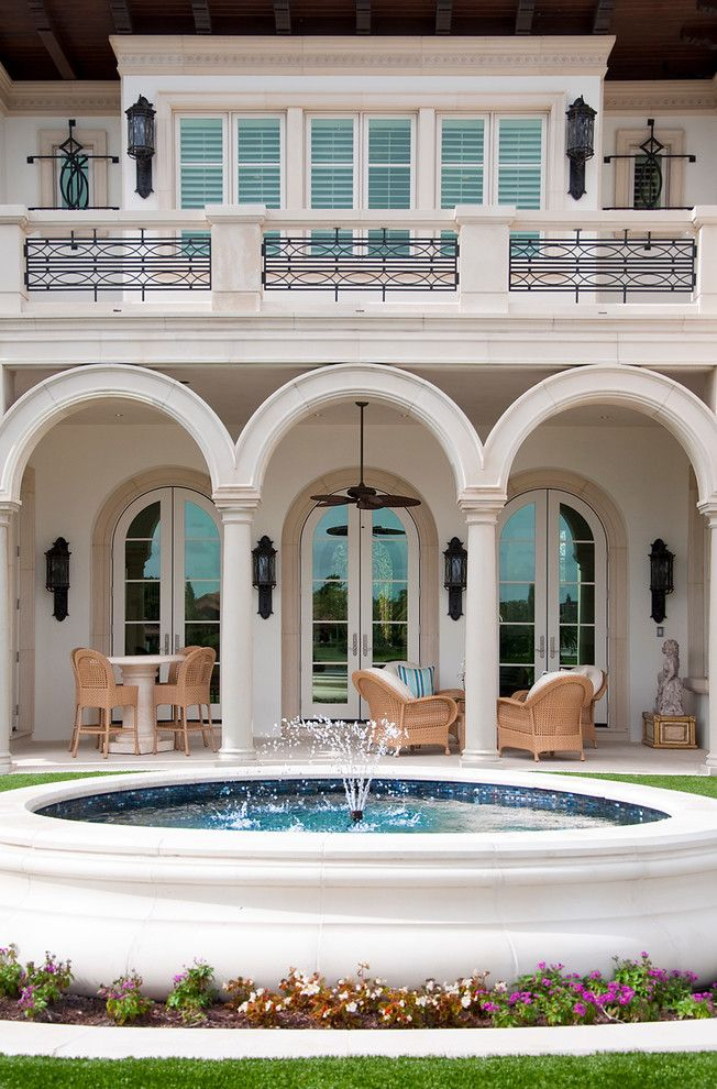 Westin Homes for a Mediterranean Exterior with a Covered Patio and Custom Home in Westin, Fl by Albanese Builders