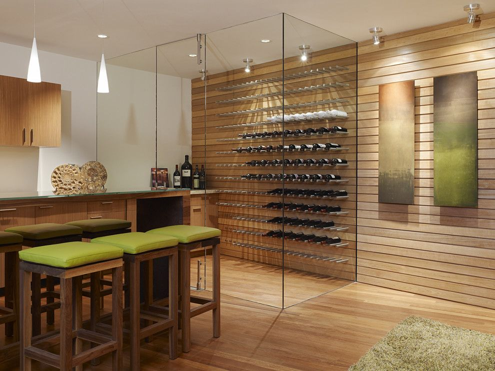 Wine Cellar Los Gatos for a Contemporary Wine Cellar with a White Walls and Modern Wine Cellar by Fulcrumse.com