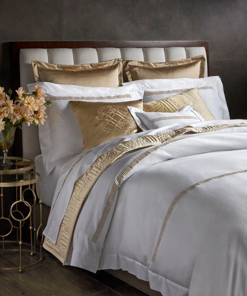 Www.clickerproducts.com for a Contemporary Bedroom with a Contemporary and Pratesi Up & Down Collection   Bloomingdales.com by Bloomingdale's