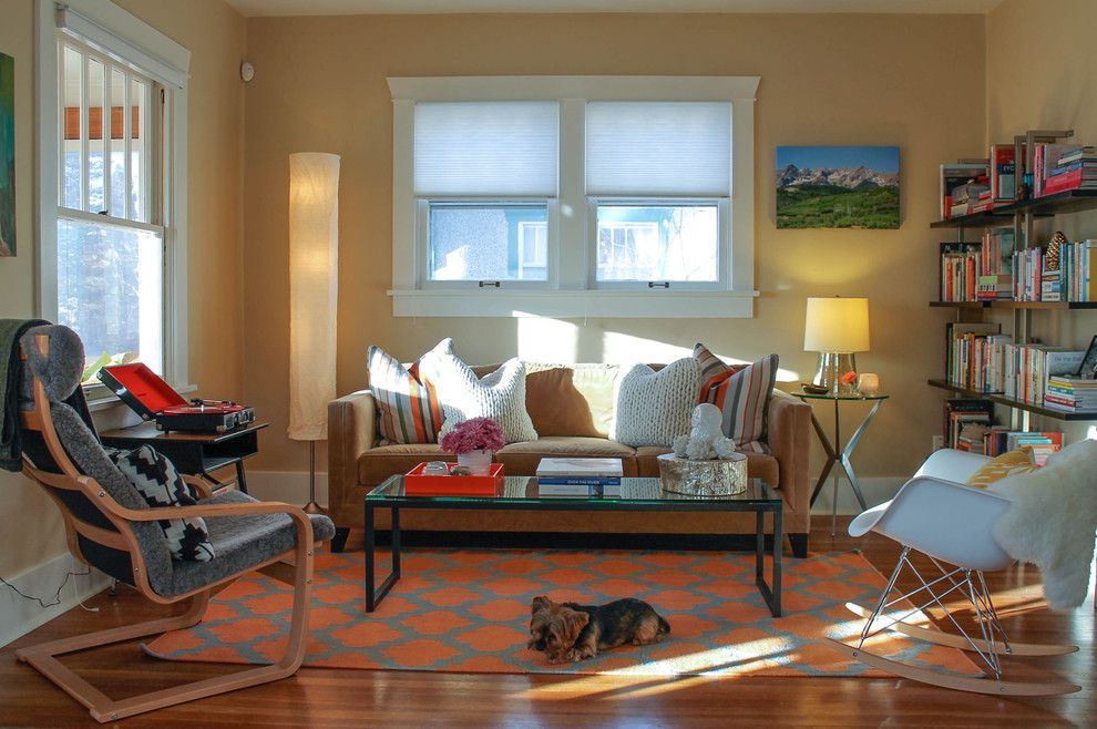 Zoom Room Denver for a Eclectic Living Room with a Area Rug and Denver Highlands Bungalow by Lauren Mikus