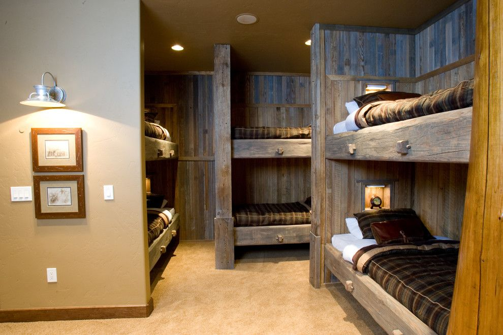 Zoom Room Denver for a Rustic Kids with a Accent Lighting and Glass Forest Summit County by Designworks Development