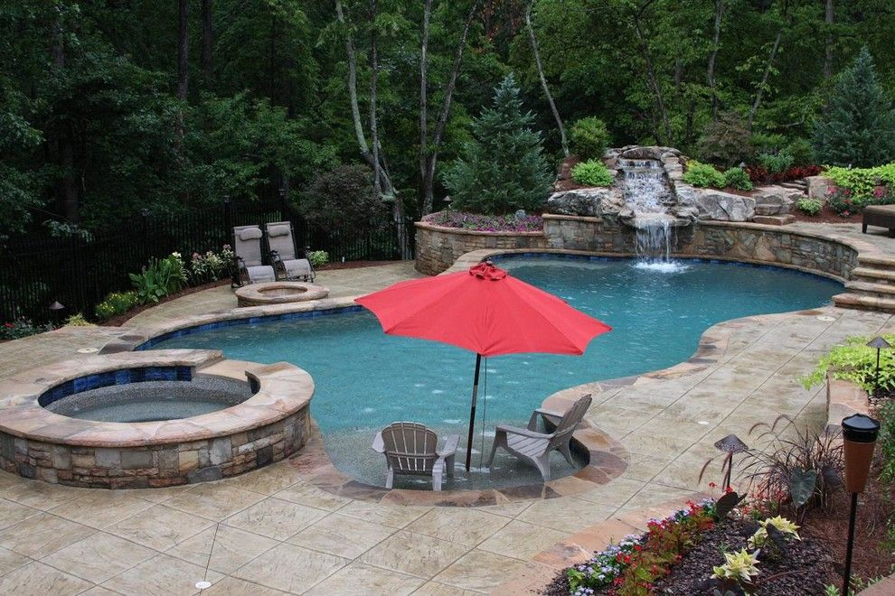 2700k Light for a Tropical Pool with a Tropical and Pool Photo Gallery by Atlantis Pools & Spas, Llc