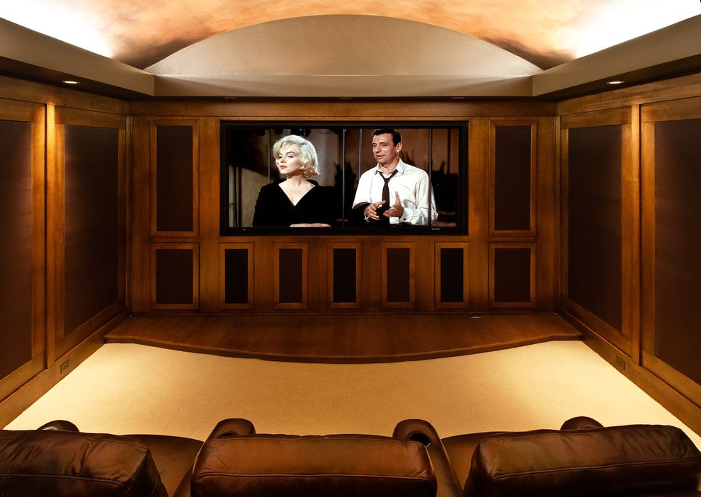 40th St Movie Theater for a Traditional Home Theater with a Theater Seats and Architectural Portfolio by Shawn St.peter Photography