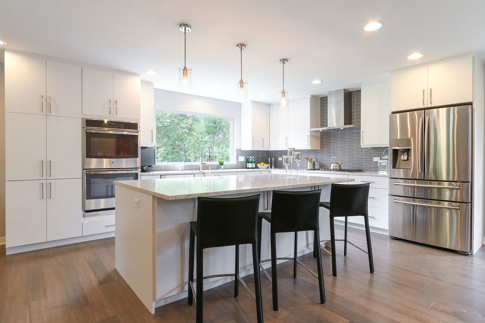 60035 for a Contemporary Spaces with a Highland Park and Highland Park Kitchen Remodel by Prestige Renovations