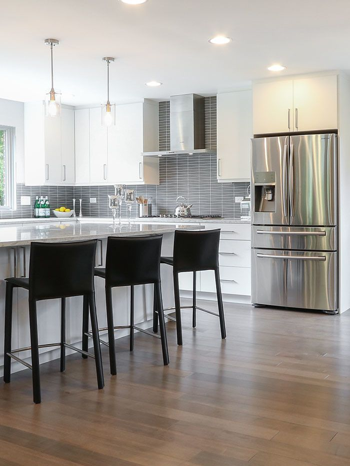 60035 for a Contemporary Spaces with a Modern Kitchen Cabinets and Highland Park Kitchen Remodel by Prestige Renovations