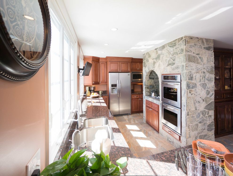 Aaa Cranston Ri for a Traditional Kitchen with a Porcelain Tile Floor and Cranston, Ri   Kitchen Remodel by Insperiors, Llc