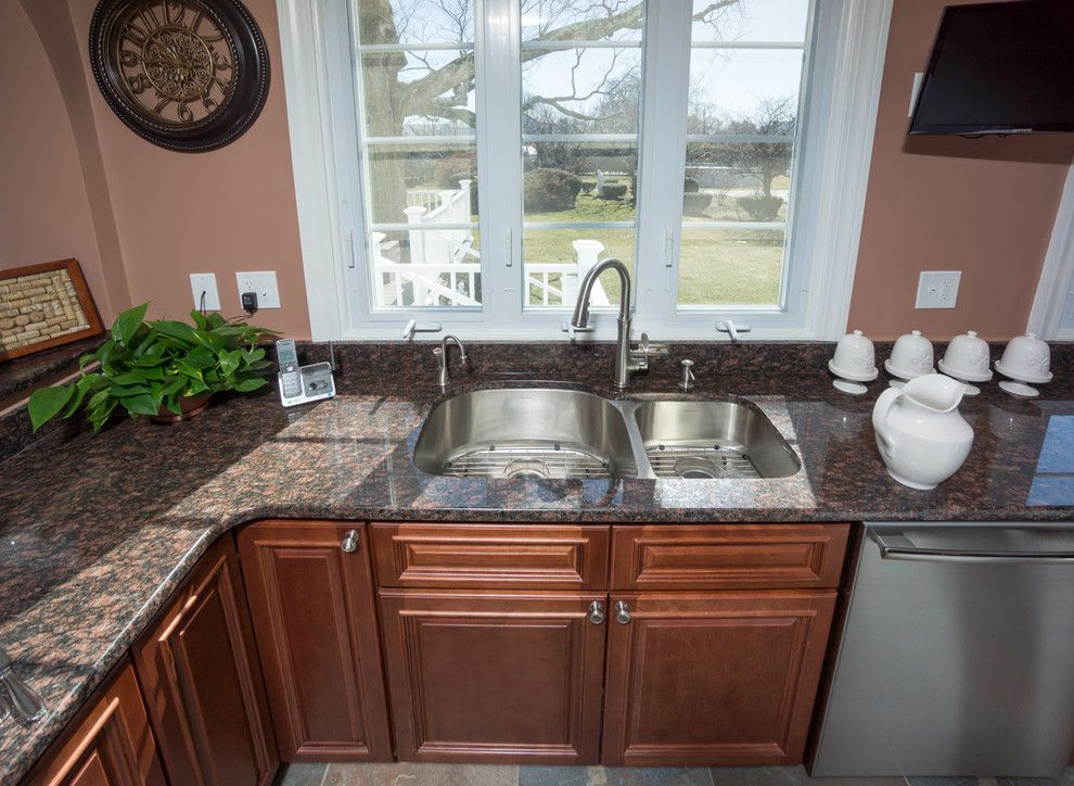 Aaa Cranston Ri for a Traditional Kitchen with a Stone Wall and Cranston, Ri   Kitchen Remodel by Insperiors, Llc