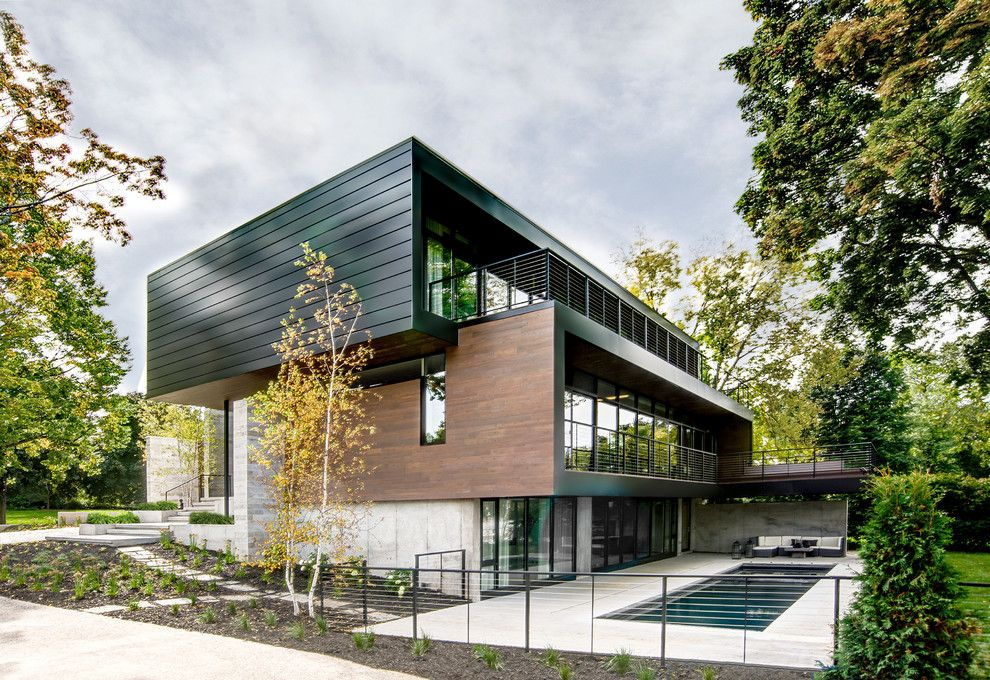 Aaa Salvage for a Contemporary Exterior with a Pool and Rear Facade by Dspace Studio Ltd, Aia
