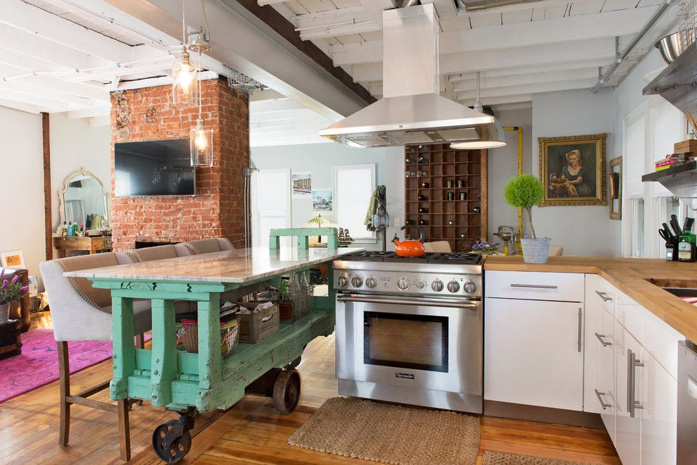Aaa Salvage For A Eclectic Kitchen With A Kitchen And Providence Kitchen  Remodel By Danielle Sykes