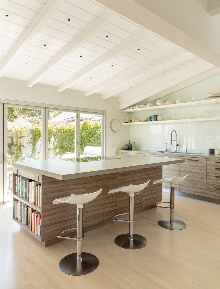 Aaa Santa Barbara for a Contemporary Kitchen with a Grey Wood and Santa Barbara by Haefele Design