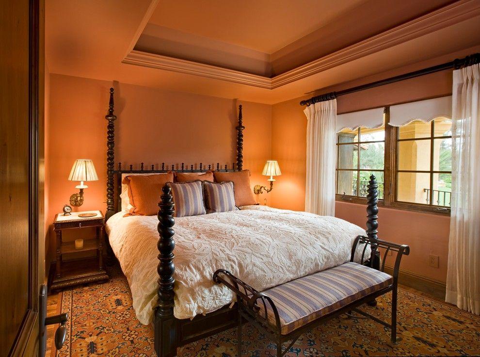 Aaa Santa Barbara for a Mediterranean Bedroom with a Wall Sconce and Santa Barbara Hope by Sesshu Design Associates, Ltd