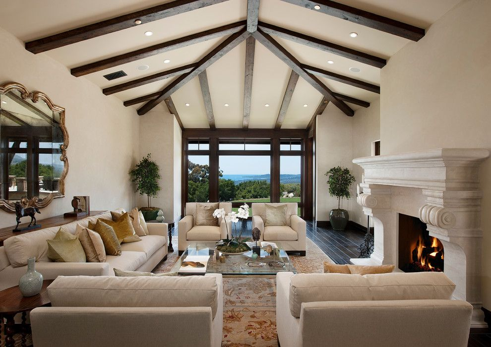 Aaa Santa Barbara for a Mediterranean Living Room with a Beige Sofa and Santa Barbara by Dugally Oberfeld, Inc.