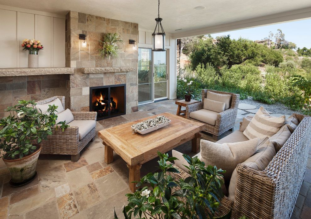 Aaa Santa Barbara for a Traditional Patio with a Hanging Pendant Lantern and East Mountain by Dd Ford Construction