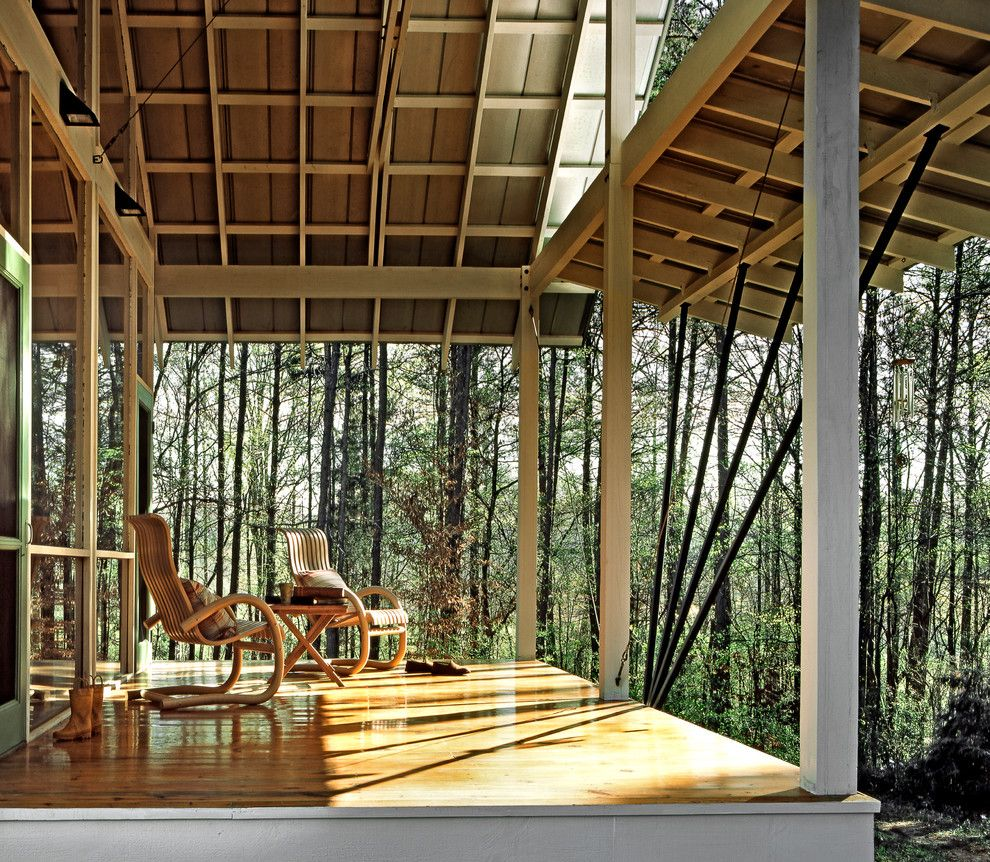 Aaa West Springfield for a Contemporary Porch with a Wood Deck and Gillsville House by Robert M. Cain, Architect