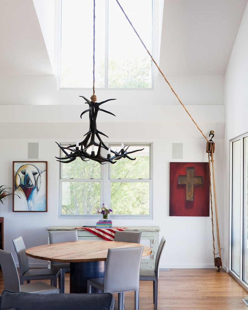 Aaa West Springfield for a Modern Dining Room with a Glass Doors and Porch House by Hufft Projects