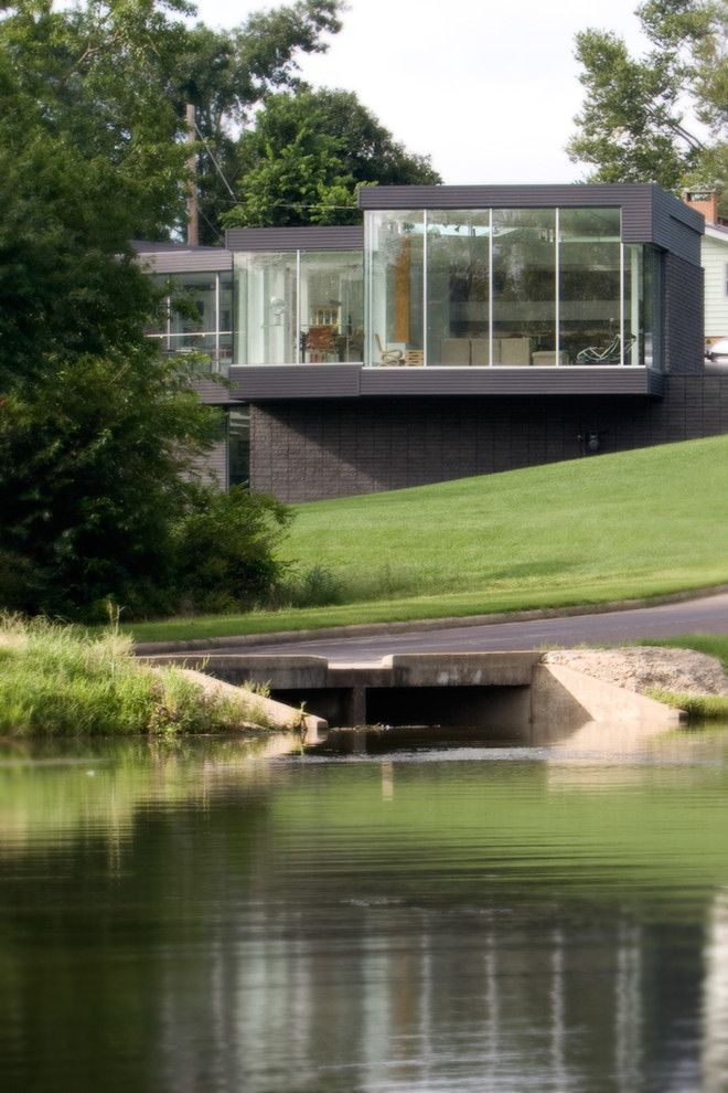 Aaa West Springfield for a Modern Exterior with a Hillside and the Residence by Hufft Projects