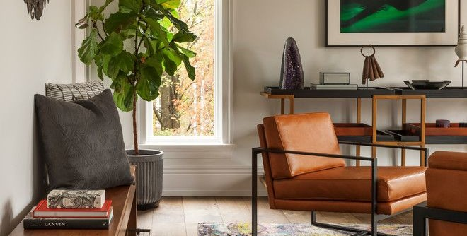 Aaa West Springfield for a Transitional Living Room with a Vintage Ethnic Area Rug and Gladwyne Renovation by BLACK & POOLE