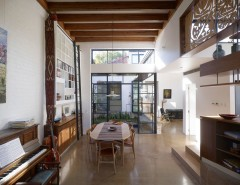 Aarons Furniture Near Me for a Scandinavian Dining Room with a Open Floor Plan and Petersham House by Sam Crawford Architects