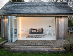 Aarons Uk Blog for a Contemporary Shed with a Deck and Staithe House by Victoria Jerram Limited