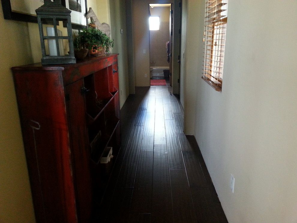 Abbey Flooring for a Transitional Hall with a Hallmark Hardwood and Hardwood by Prescott'S Abbey Flooring and Design