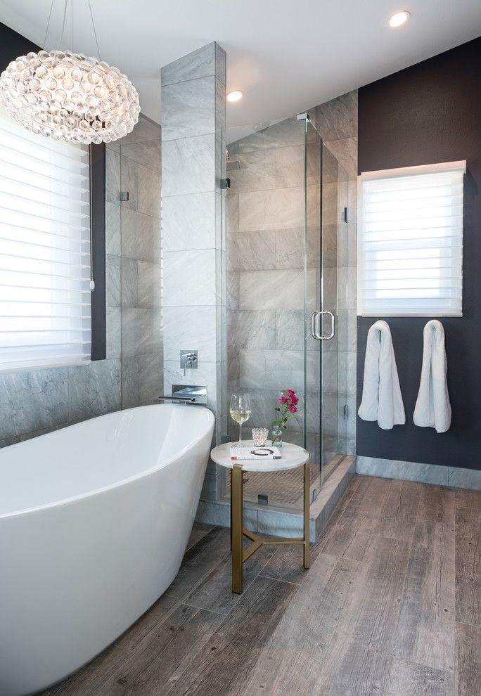 Abc Supply Denver for a Transitional Bathroom with a Thin White Window Shades and Muirfield Court by Oliver Designs