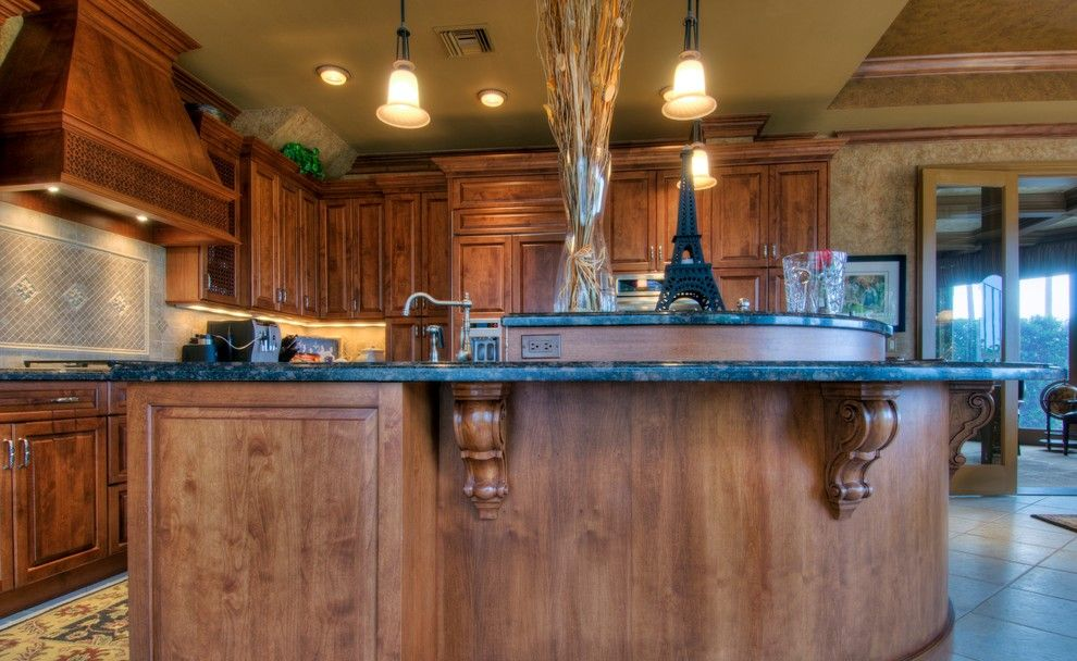 Ace Hardware Miami Beach for a Traditional Kitchen with a Custom Laser Cut Insert Panels and Olde World Kitchen in Jupiter, Florida by Schrapper's Fine Cabinetry & Design