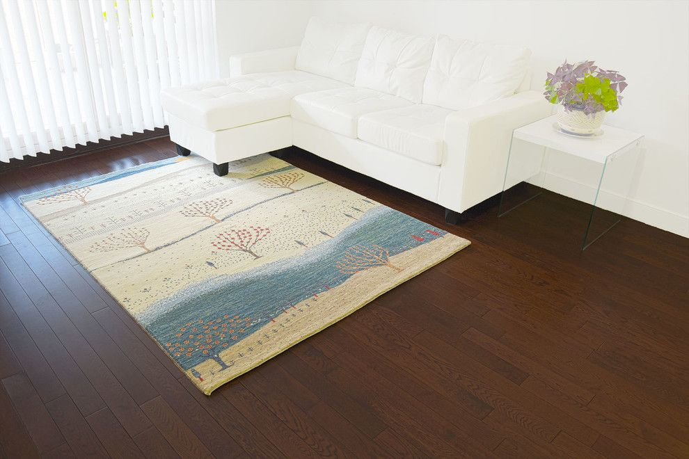 Acme Glass for a Contemporary Living Room with a Dark Wood Floors and Collections by 1800 Get a Rug
