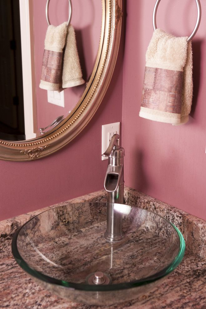 Acme Glass for a Traditional Spaces with a Pink Bathroom and Bathroom Designs by Acm Design