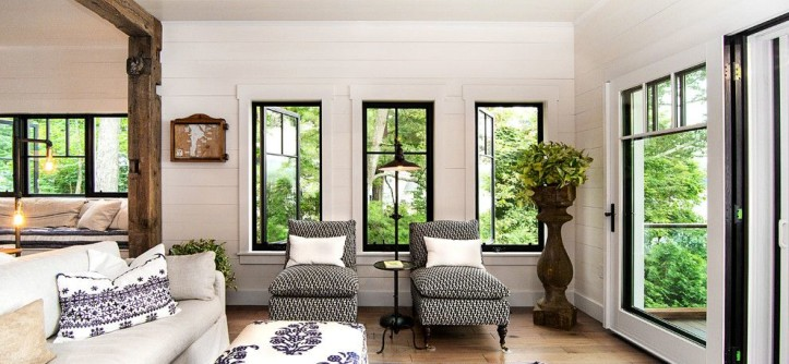 Acme New Orleans for a Rustic Living Room with a Interior Design and Lake George Retreat by Phinney Design Group