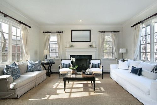 Acme New Orleans for a Transitional Living Room with a Family Room and Luxury Family Room by Khb Interiors