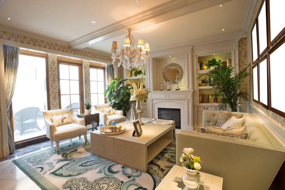Acme New Orleans for a Transitional Living Room with a Luxury Family Room and Luxury Family Room by Khb Interiors