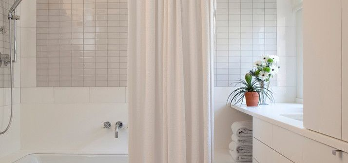 Ada Grab Bar Height for a Contemporary Bathroom with a Towels and Riverside Drive Super Groovy Masterpiece by Rusk Renovations