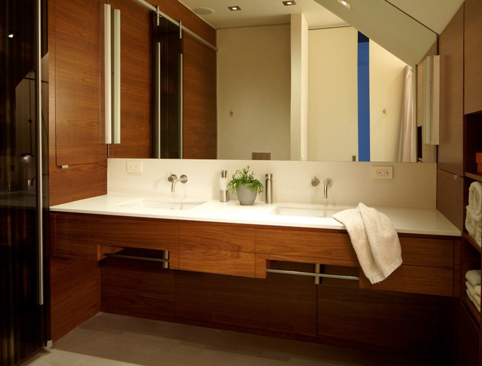 Ada Grab Bar Height For A Modern Bathroom With A Modern And Port Washington Residence By