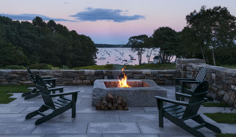 Adirondack Camp for a Traditional Patio with a Sailboats and Traditional Patio by Whittenarchitects.com