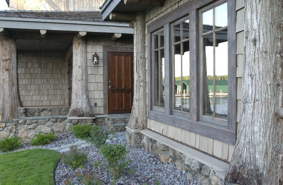 Adirondack Lodge for a Traditional Exterior with a Cabin and Exterior by Marie Meko, Allied Asid