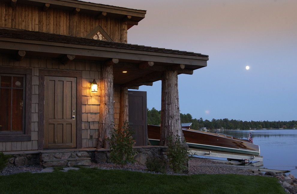 Adirondack Lodge for a Traditional Exterior with a Northwoods and Exterior by Marie Meko, Allied Asid