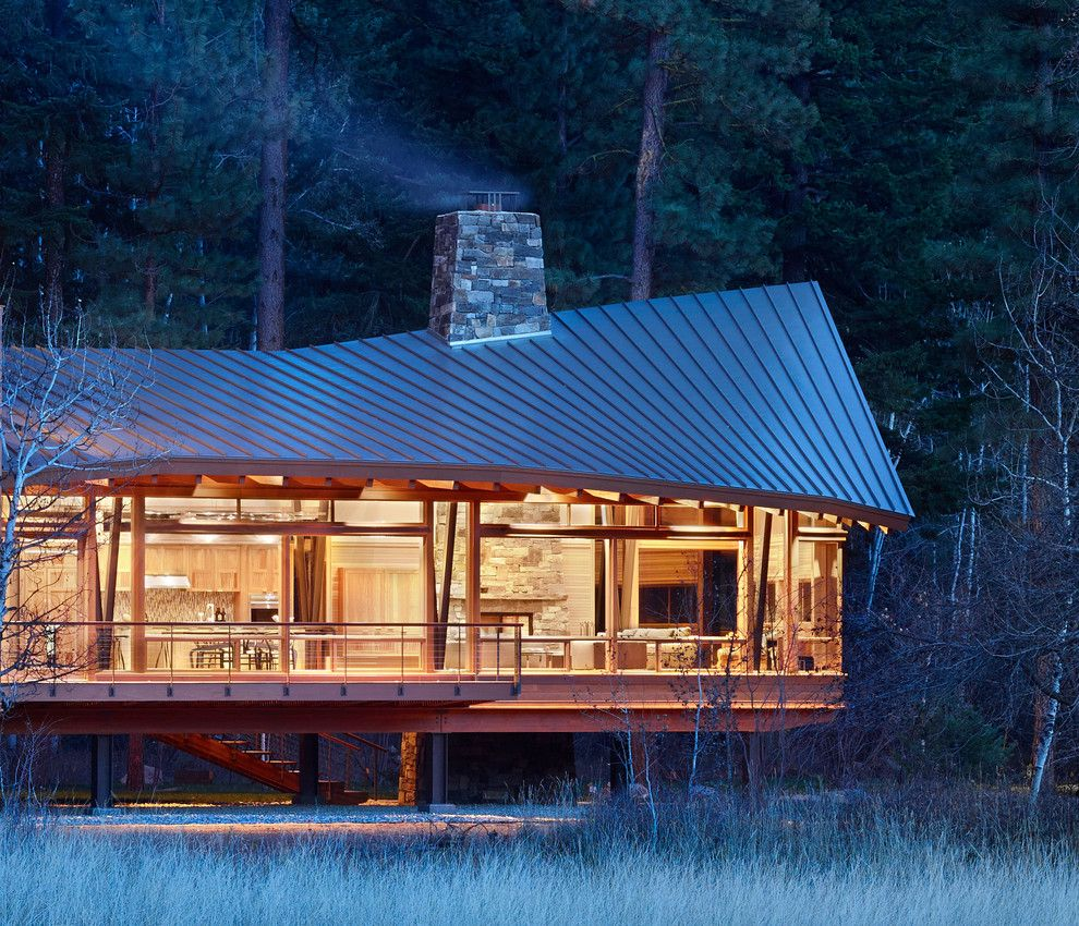 Agway Energy for a Contemporary Exterior with a Lifted House and Mazama House by Finne Architects