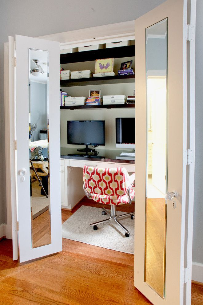 Agway Energy for a Contemporary Home Office with a Medium Wood Floor and Contemporary Home Office by Rudaanderson.com