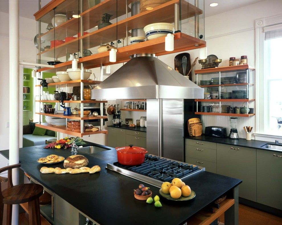 Agway Energy for a Industrial Kitchen with a Kitchen Island and Kitchen Island by Actual Size Architecture