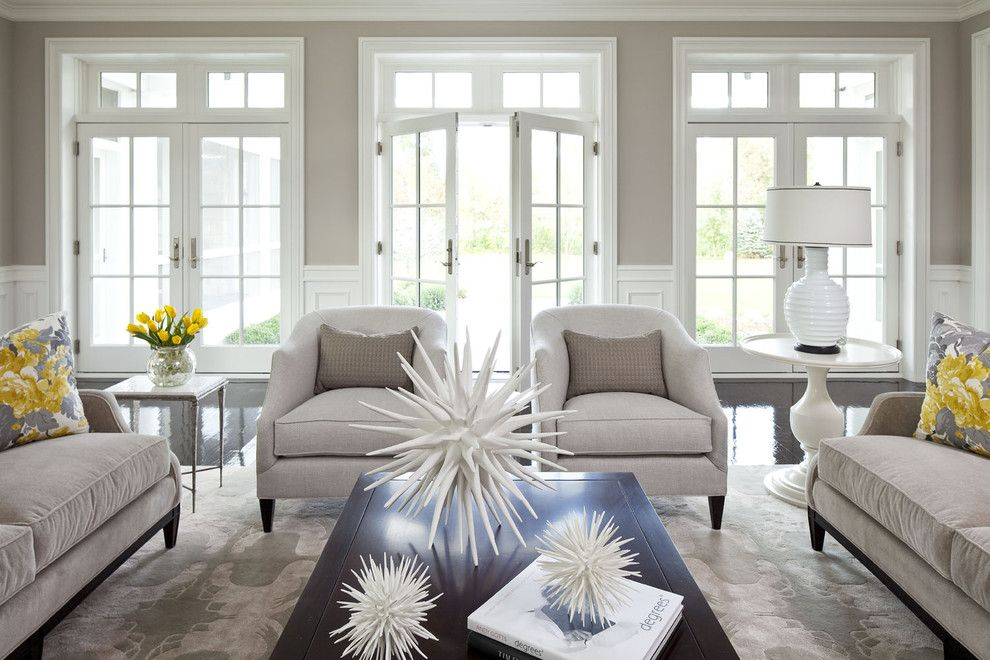Aho Construction for a Traditional Living Room with a Black Floor and Parkwood Road Residence Living Room by Martha O'hara Interiors