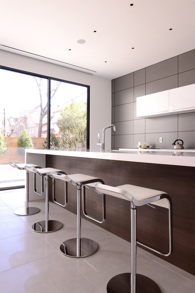 Aia Houston for a Contemporary Kitchen with a Wood and Bricker Kitchen by Cantoni