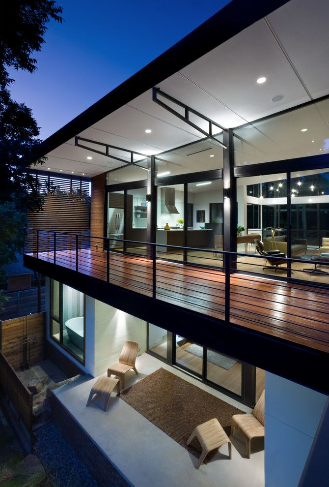 Aia Sf for a Contemporary Balcony with a Wood Deck and Labron Residence by Mitchell Garman Architects