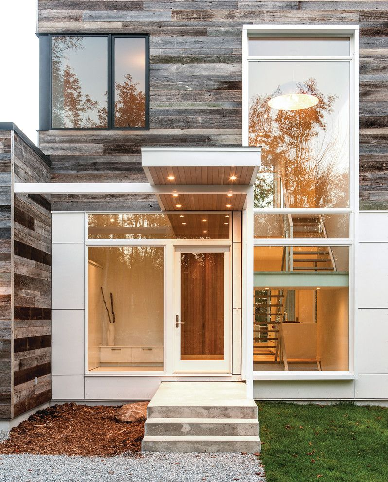 Aia Sf for a Modern Entry with a Roof Overhang and Gatineau Hills by Marvin Windows and Doors