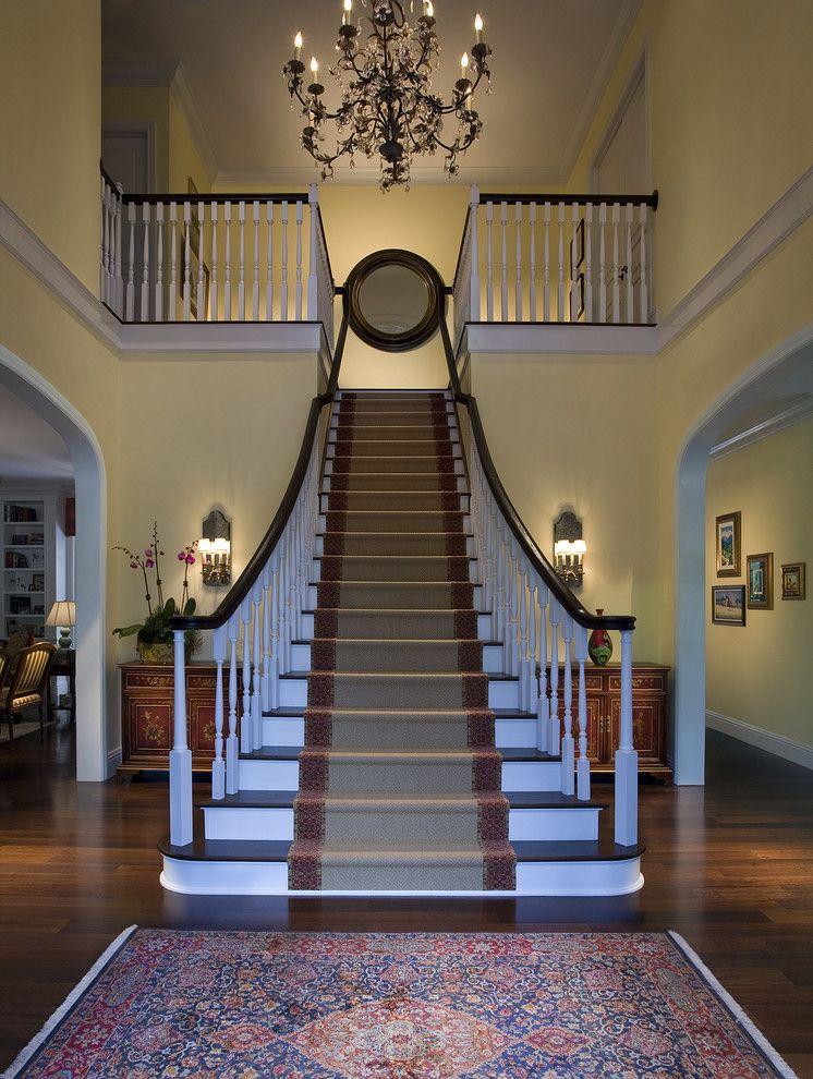 Airbase Carpet Mart for a Traditional Staircase with a Runner and Architectural and Interior Photography by Craig Denis